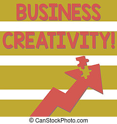 immaginativo, concetto, indicare, testo, puzzle, colorito, jigsaw, idee, realtà, nuovo, giramento, affari, piece., parte, creativity., distaccato, come, significato, freccia, atto, scrittura, verso l'alto