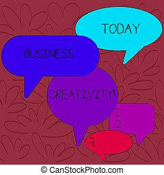 immaginativo, differente, concetto, gruppo, discussion., affari, formati, colorare, testo, creativity., idee, realtà, significato, discorso, giramento, ombra, molti, nuovo, atto, bolla, scrittura
