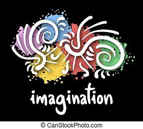 immaginazione, arte, coperchio