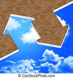 immagine, 3d, di, icona casa