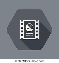 immagine, aggiustare, luminosità, icona