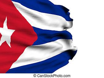 immagine, bandiera, cuba