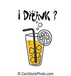 immagine, bevanda, succo, vettore, fondo, arancia