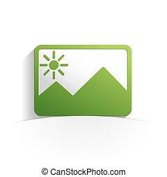 immagine, carta, icona