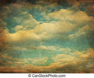 immagine, cielo, retro, nuvoloso