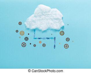 immagine, concetto, nuvola, calcolare