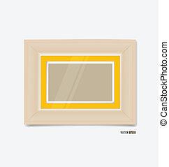 immagine, eps10, cornice, giallo, wall., vettore