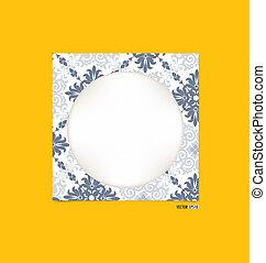 immagine, eps10, vendemmia, cornice, giallo, wall., vettore