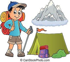 immagine, escursionista, topic, ragazzo, 1
