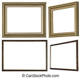 immagine, fatto, dipinto, cornice, vernice, legno, profiled