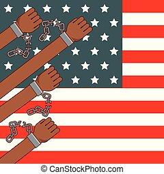 immagine, fermata, razzismo