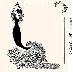 immagine, flamenco