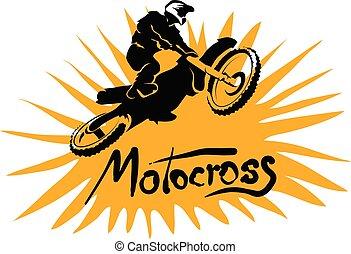 immagine, motocross, illustrazione, vettore, sport, estremo