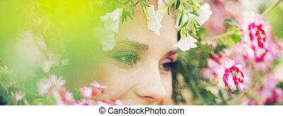 immagine, ninfa, foresta, panoramico