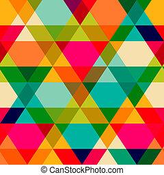 immagine, o, struttura, geometrico, precipitare, copia, effect., fondo., modello, quadrato, lato, spettro, essere, lattina, seams., triangles., senza, pavimentato, ripetuto, visibile, flusso, shapes.