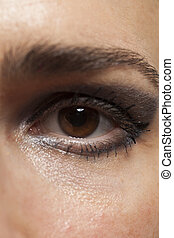 immagine, occhio donna, su, macro.close, eye.