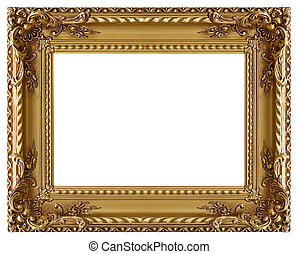 immagine, oro, cornice, con, uno, modello decorativo