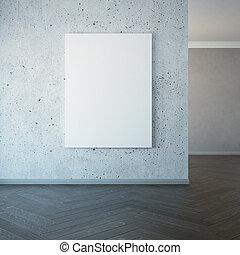 immagine, parete, 3d, vuoto, interpretazione