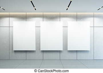 immagine, parete, interpretazione, vuoto, cornici, 3d
