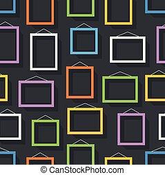 immagine, set, cornice, wall., contenuto, sagoma, vuoto