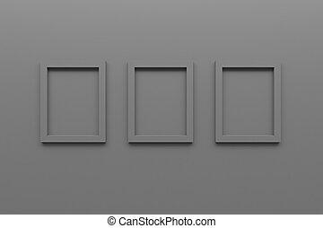 immagine, set, grigio, struttura parete, interpretazione, vuoto, 3d