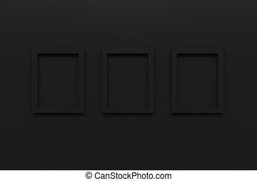 immagine, set, struttura parete, interpretazione, nero, vuoto, 3d