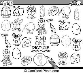immagine, singolo, gioco, cartone animato, trovare