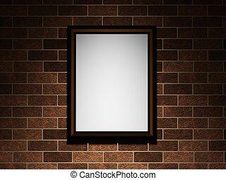 immagine, su, uno, muro di mattoni