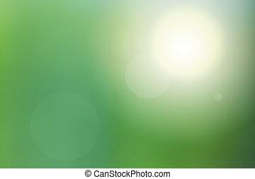 immagine vaga, di, verde, natura, fondo