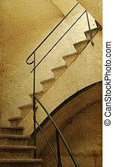 immagine, vecchio, foto, staircase., style.