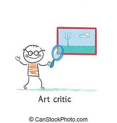 immagine, vetro art, critico, occhiate, ingrandendo
