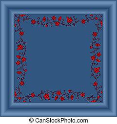 immagine, vettore, frame/