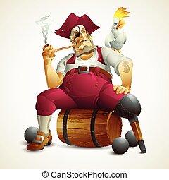 immagine, vettore, pirata, illustrazione
