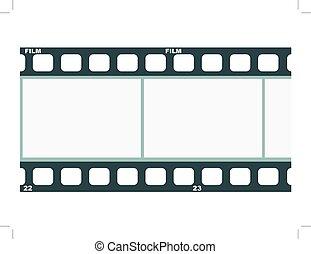immagine, vettore, striscia cinematografica