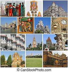 immagini, città, sightseeing, mumbai