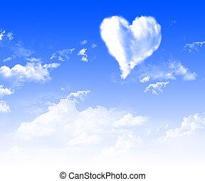 immagini, di, cuore