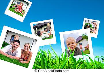 immagini, di, famiglia felice