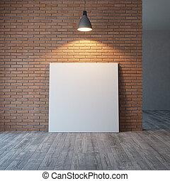 immagini, parete, interpretazione, vuoto, mattone, 3d