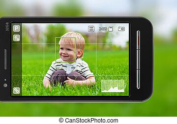immagini, presa, smartphone