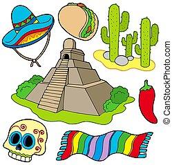immagini, vario, messicano