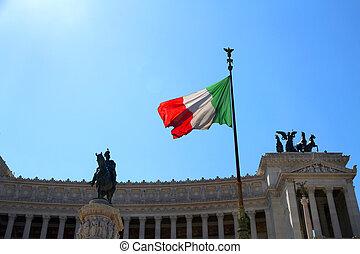 immense white monument called Vittoriano 2