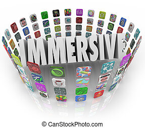 Immersive Word App Software Program Application Icons -...