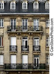 immeuble, reims, france