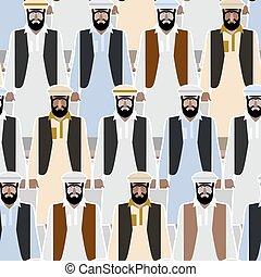 immigrants, foule, pakistan., seamless, fond, syrien, gens., vecteur, pattern., afghanistan, réfugié