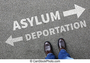 immigrants, refugees, 撤去, 不法入国者, 保護所, 移住, deportation, 聖域, 概念