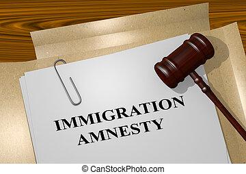Immigration Amnesty concept