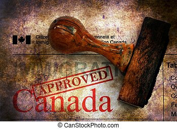 Immigration Canada - approved grunge concept
