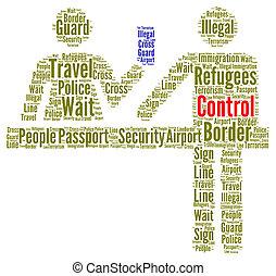 Immigration control concept