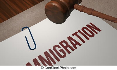 IMMIGRATION legal concept shot clip