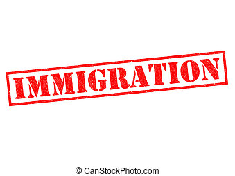 IMMIGRATION red Rubber Stamp over a white background.